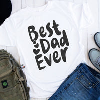 Best Dad Ever Hearts Sublimation Transfer