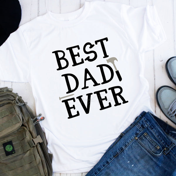Best Dad Ever with Tools Sublimation Transfer