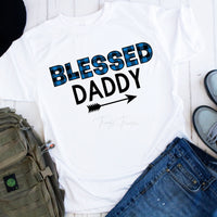 Blue Plaid Blessed Daddy Sublimation Transfer