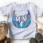 Mini BLUE Wings YOUTH Screen Print Heat Transfer