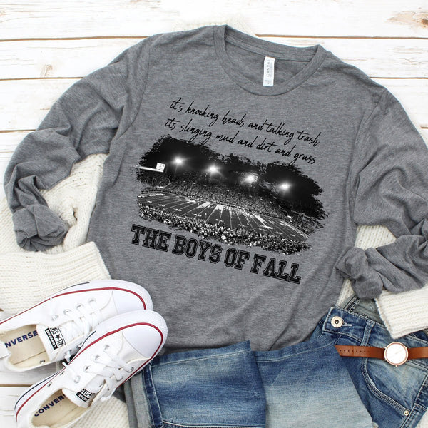 The Boys Of Fall Football Screen Print Heat Transfer