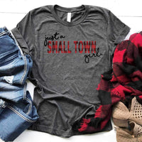 Just A Small Town Girl Buffalo Plaid