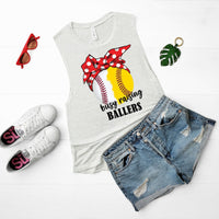 Busy Raising Ballers Baseball Softball Screen Print Heat Transfer