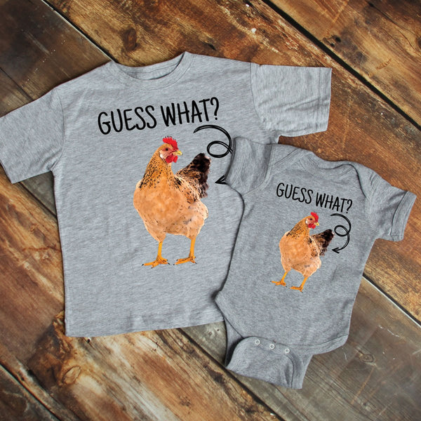 Guess What Chicken Butt YOUTH Screen Print Heat Transfer