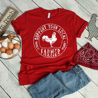Support Local Chicken Farmer SHIPS 9/21 Screen Print Heat Transfer