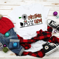 Christmas is Best at the Farm Windmill Cow Sublimation Transfer