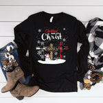 Christmas begins with Christ SHIPS 11/4 Screen Print Heat Transfer