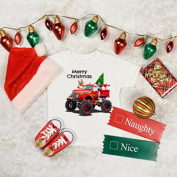 Santa claus Reindeer Monster Christmas Truck Sublimation Transfer