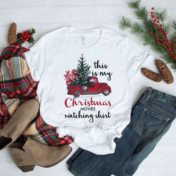 This is my Christmas movies watching shirt Sublimation Transfer