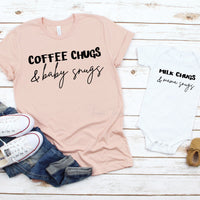 Coffee chugs and baby snugs ADULT mommy and me Sublimation Transfer