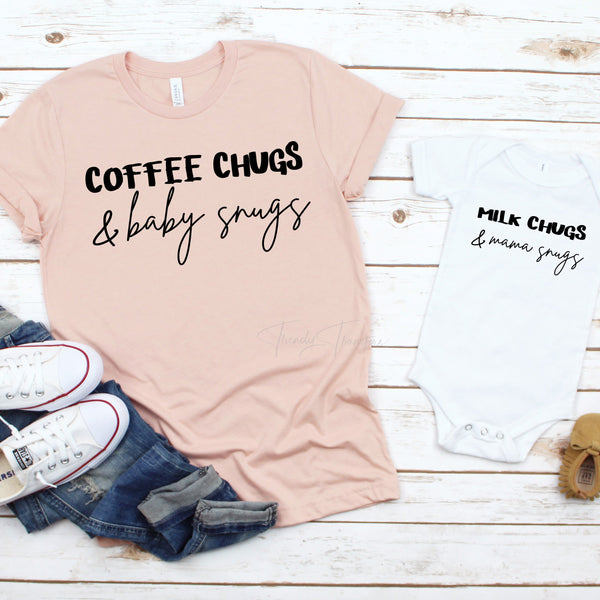 Milk chugs and mama snugs INFANT or YOUTH mommy and me Sublimation Transfer