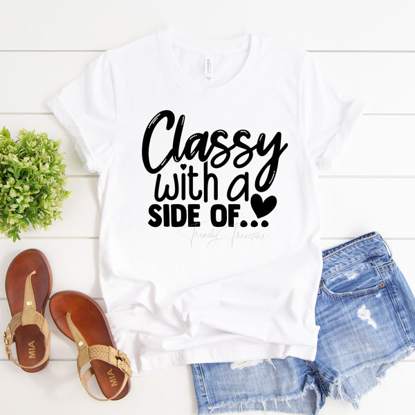 """Classy with a side of"" Mommy and Me Sublimation Transfer"