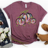 Colorful Pumpkins Screen Print Heat Transfer
