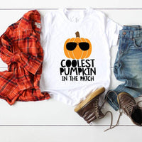 Coolest Pumpkin In The Patch TODDLER Screen Print Heat Transfer