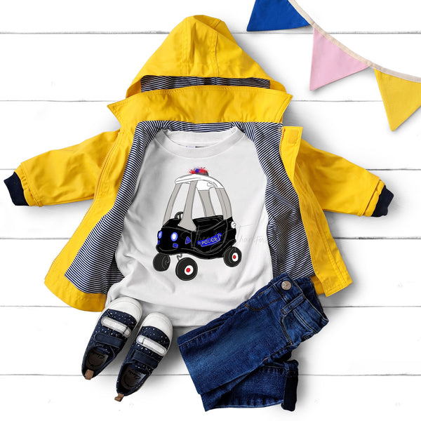 Cozy coupe police car Sublimation Transfer