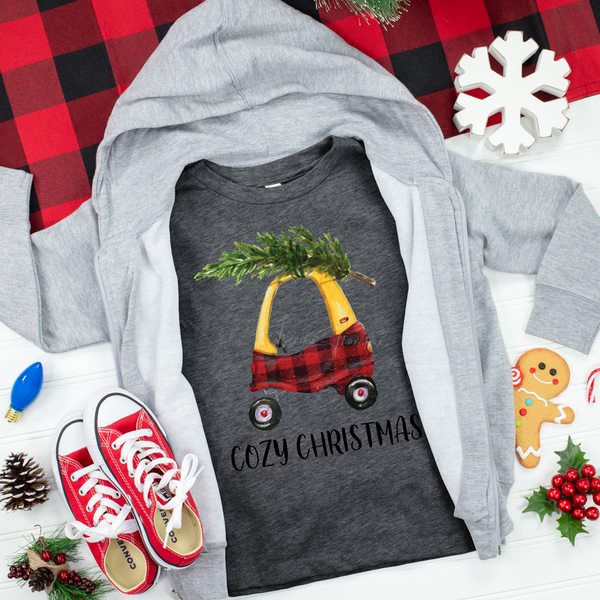 Cozy Christmas Cozy Coupe TODDLER Screen Print Heat Transfer