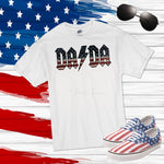 AC DC DADA flag print patriotic Sublimation Transfer