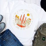 On a Dark Desert Highway Cool Wind In My Hair Cactus Sublimation Transfer