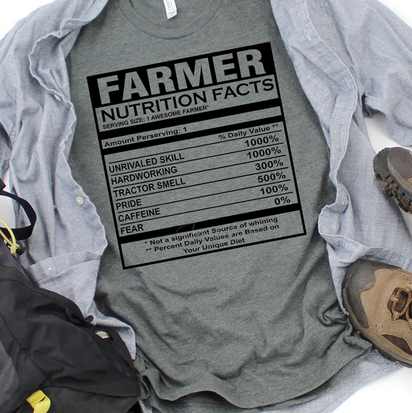 Farmer Facts SHIPS 12/8 Screen Print Heat Transfer