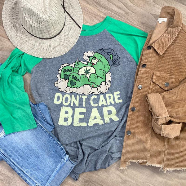 Don't Care Bear Raglan