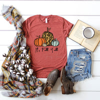 It's Fall Ya'll Pumpkins Screen Print Heat Transfer
