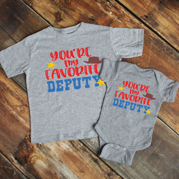 You're My Favorite Deputy YOUTH & INFANT Screen Print Heat Transfer