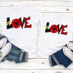 Firefighter Love Word art Sublimation Transfer