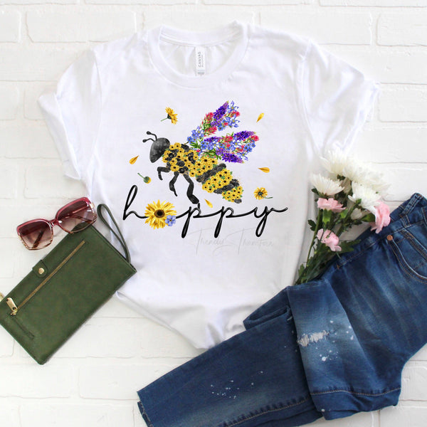 Be Happy Bee Happy Sublimation Transfer