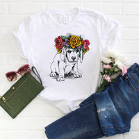 Boho Floral Puppy Sublimation Transfer