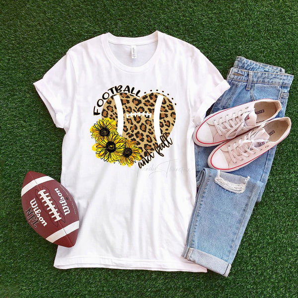 Football and fall floral leopard Sublimation Transfer