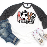 For The Love of The Game Soccer Sublimation Transfer