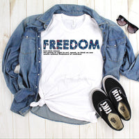 Freedom Word Art Definition Patriotic Sublimation Transfer