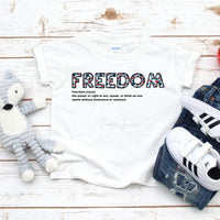 Freedom Word Art Hearts Sublimation Transfer