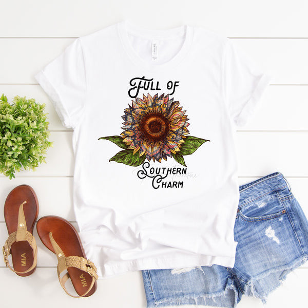Paisley Sunflower Full of Southern Charm Sublimation Transfer