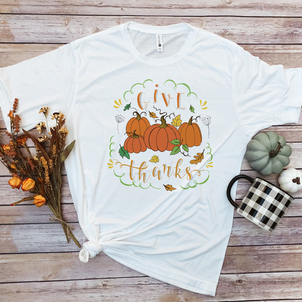 Give Thanks Pumpkin Fall Sublimation Transfer