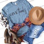 Give Thanks Screen Print Heat Transfer