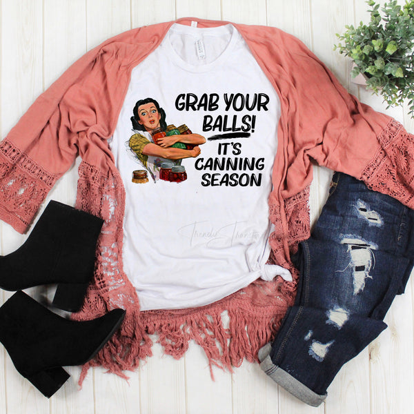 Grab your Balls it's canning seasons vintage retro Sublimation Transfer