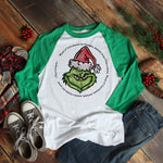 Grinch Quote Circle Christmas Sublimation Transfer