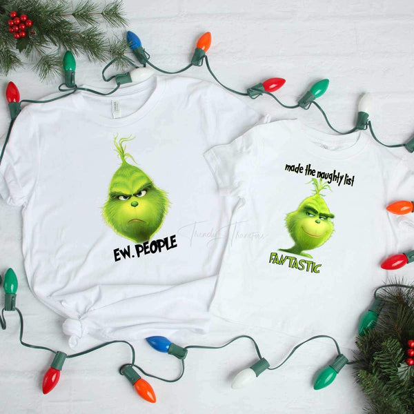 Ew. People Grinch Sublimation Transfer