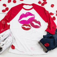 Pink Lips Valentine's Day Screen Print Heat Transfer