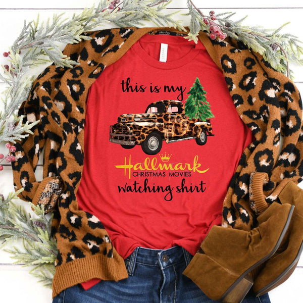 This is My Christmas Movies Watching Shirt Screen Print Heat Transfer