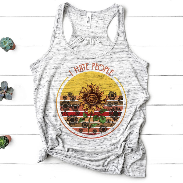 Sunflower I Hate People Sublimation Transfer