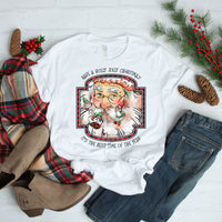 Have a Holly Jolly Christmas Vintage Santa and Elves Sublimation Transfer