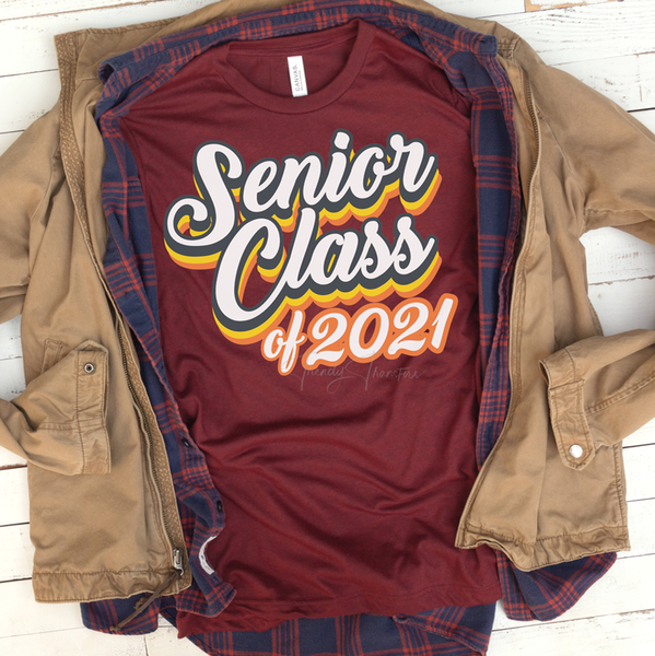 Senior 2021 SHIPS 12/9 Screen Print Heat Transfer
