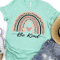 Be Kind Rainbow Screen Print Heat Transfer