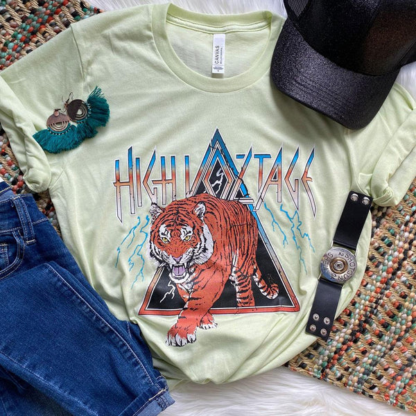 High Voltage Tiger Screen Print Heat Transfer