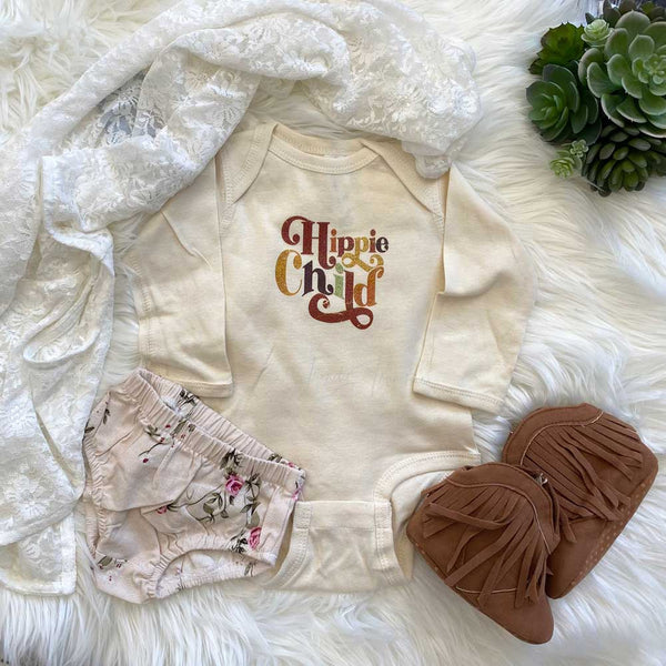 Hippie Child  Pocket/Infant Screen Print Heat Transfer