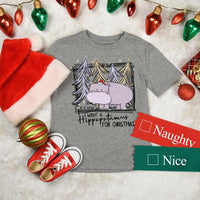 I Want a Hippopotamus For Christmas YOUTH Screen Print Heat Transfer