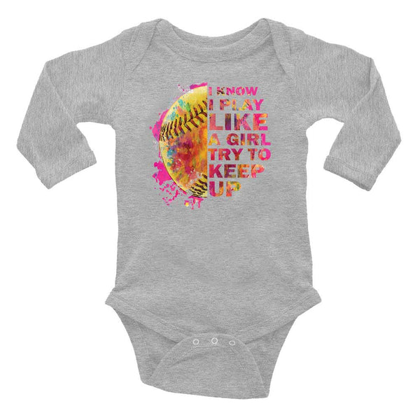I Know I Play Like A Girl  INFANT Screen Print Heat Transfer