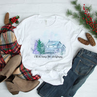 Country Christmas Scene I'll be Home for Christmas Sublimation Transfer